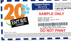 Sample bed bath and beyond coupon