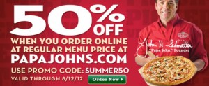 Papa Johns Coupon sample