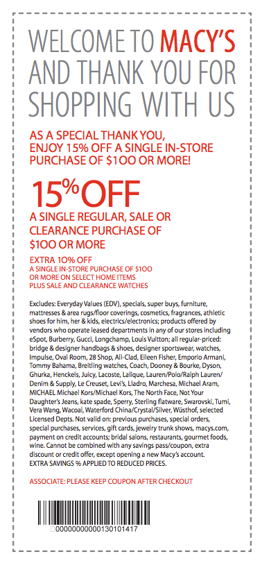 Macy S Coupon Bed Bath And Beyond Insider